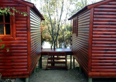 Wendys & Sheds -Log Cabin Exterior6